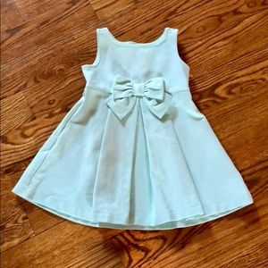 Janie and Jack Mint Bow Special Occasion Dress